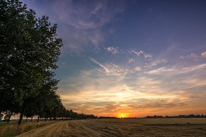 Colorful sundown