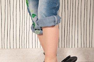 Child in heels
