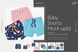 Baby Shorts Mock-ups Set & Generator