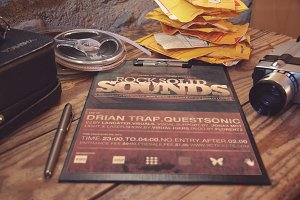 Rock Solid Sounds Flyer Template
