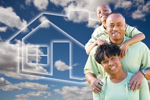 Family Over Ghosted Home In Sky