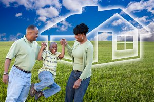 Family, Grass Field & Ghosted Home