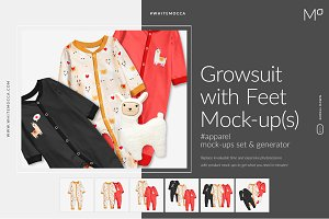 Growsuit with Feet Mock-ups Set