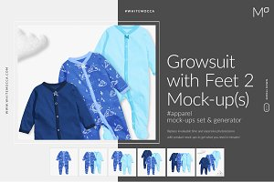 Growsuit (2) with Feet Mock-ups Set