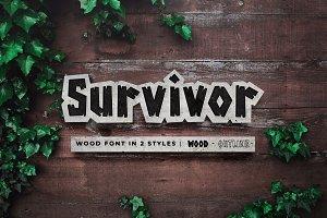 Survivor Wood Font