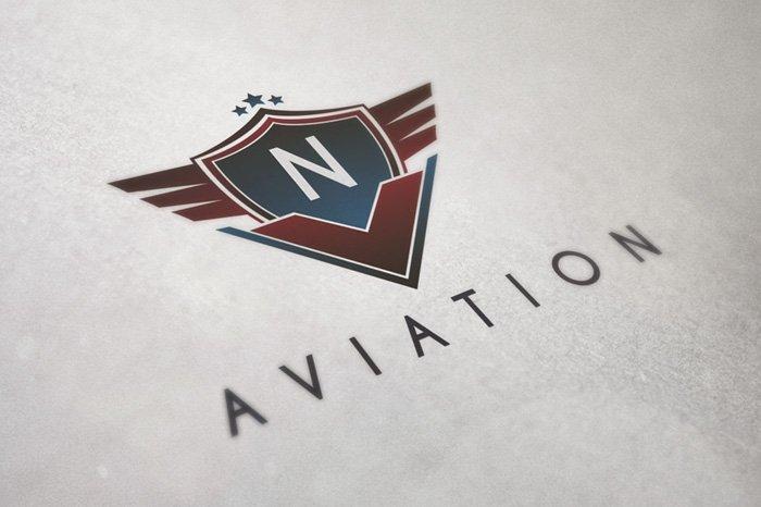 Aviation Badge Logo Logo Templates Creative Market