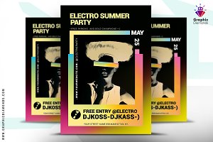 Electro Summer Music Flyer