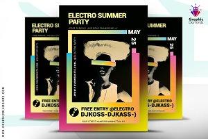 Electro Summer Music Flyer