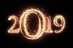 2019 written with Sparkle firework o
