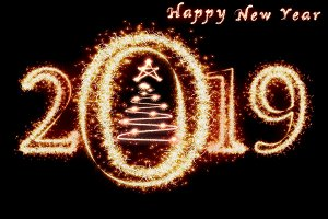 Happy new year 2019 and christmas tr
