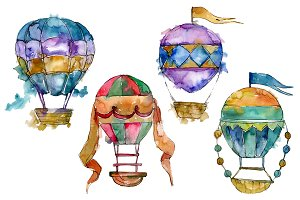 Balloons Watercolor png