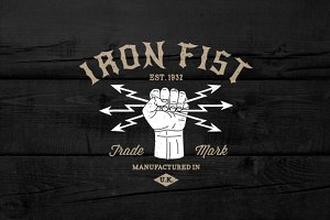 "Vintage Label ""Iron Fist"""