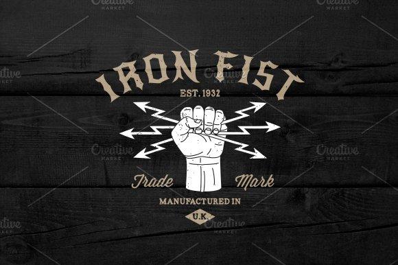 "Vintage Label ""Iron Fist"""