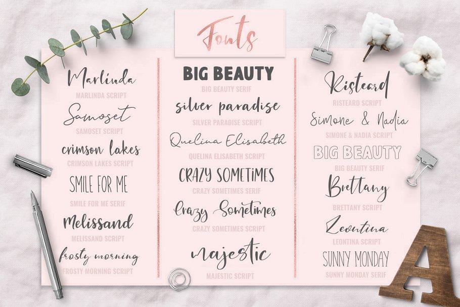 Download Font Pack & Mini Logo Creator | Stunning Script Fonts ...