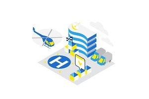 Smart city. Helicopter helipad data