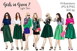 Girls in Green 2 - Light Skin