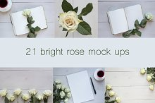 21 romantic mockups and photo