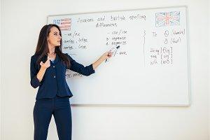 Learn english language. Teacher near