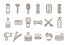 Barber Shop or Hairdresser icons
