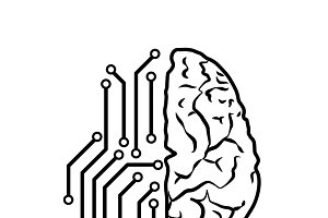 Artificial intellect concept