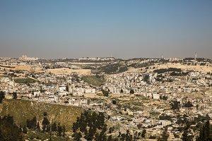 Panorama the old city Jerusalem