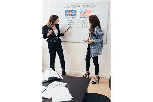 Learning English language, Female