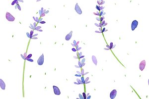 Lavender pattern (watercolor)