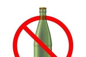 Glass bottles not allowed