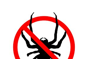 No Insects, red forbidden sign