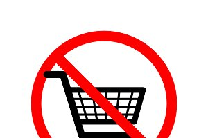Shopping carts are not allowed