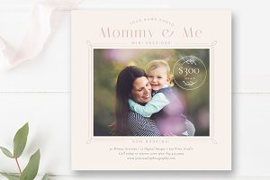5x5 Mommy and Me Minis Template