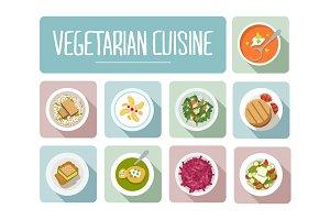 Vegetarian Cuisine Icons