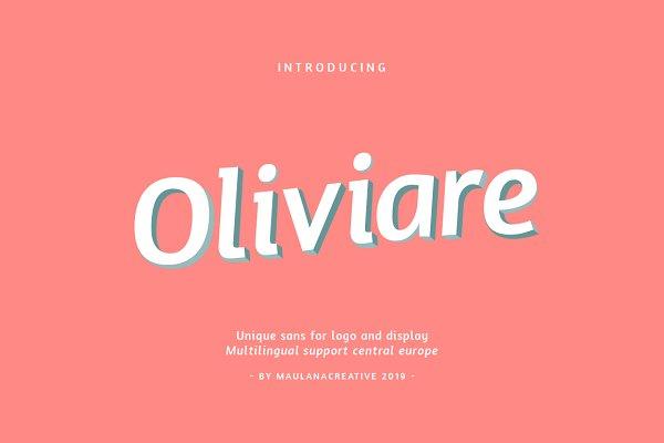 Fonts: Maulana Creative - Oliviare Typeface