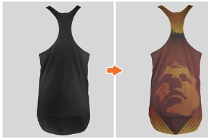 Men's Non-Ribbed Tank Top Mockups