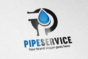 Pipe Service Plumber Letter P Logo