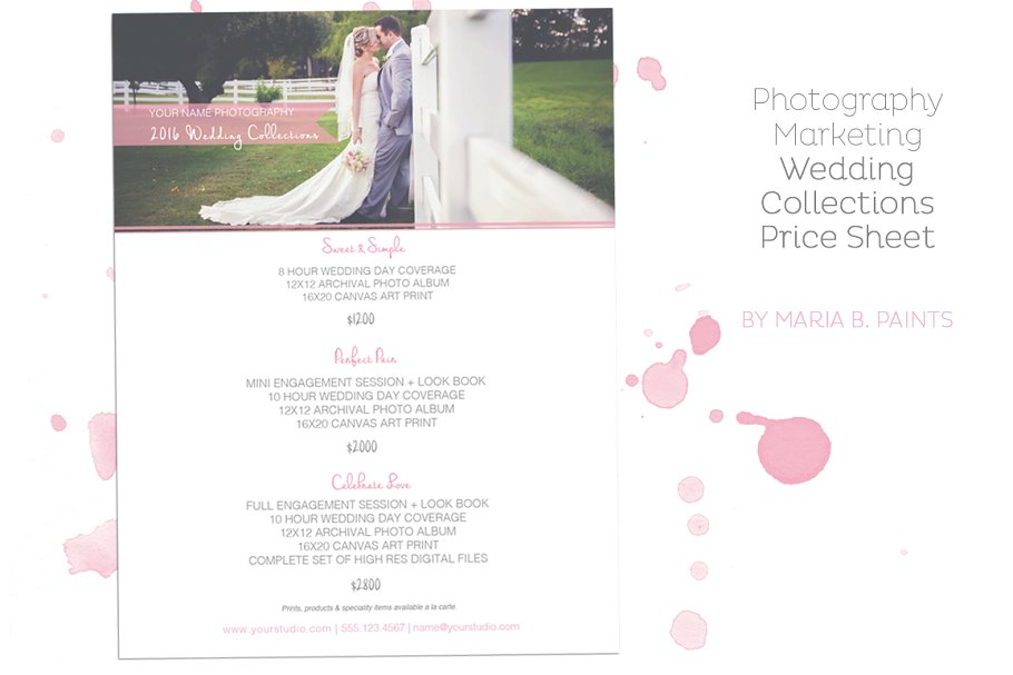 Wedding Pricing Guide Template