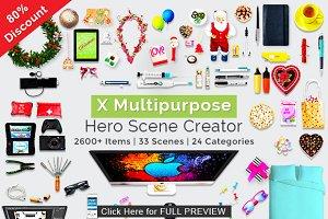 X Multipurpose Hero Scene Creator