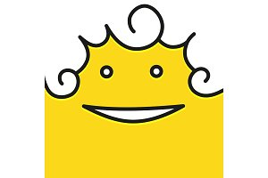 Smile icon template design with