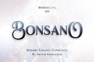 Bonsano font + Bonus