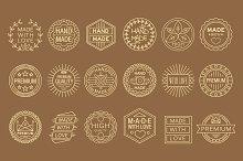 Hand made labels,vintage elements