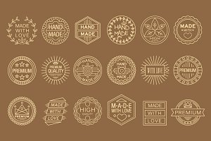 Hand made labels,vintage elements