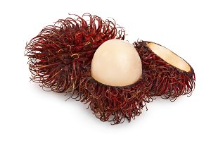 rambutan isolated on white