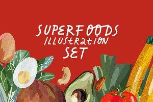 Healthy Food Illustration Set