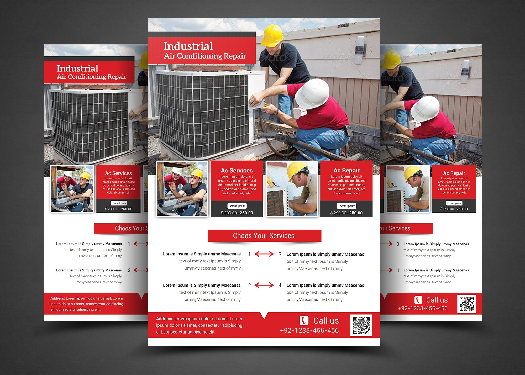 Air Conditioning Repair Flyer Flyer Templates Creative