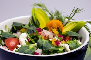 Salad of fresh vegetables