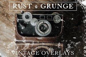 Rust & Grunge Vintage Film Overlays