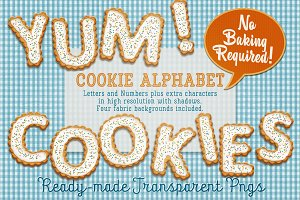 Cookies Alphabet - Letters & Numbers