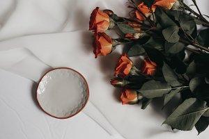 Tangerine Rose Styled Stock 054