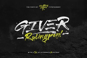Giver Font + Extras