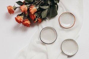 Tangerine Rose Styled Stock 062